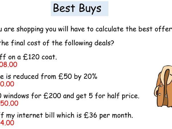 Full Best Buys Lesson