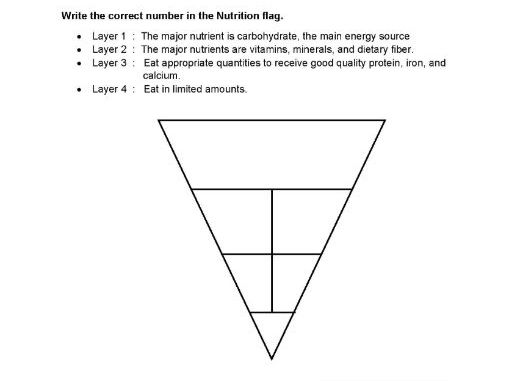 The Nutrition Flag worksheet