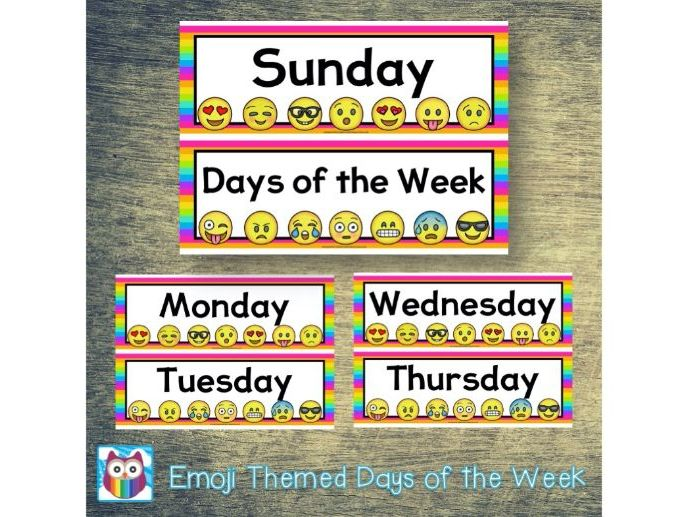 Emoji Days of the Week
