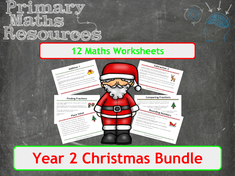 Christmas Maths Worksheets - Year 2