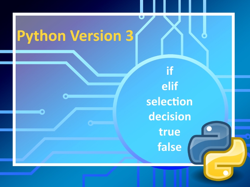 Python 3: Using if, elif, else command Lesson 2 with instructional videos