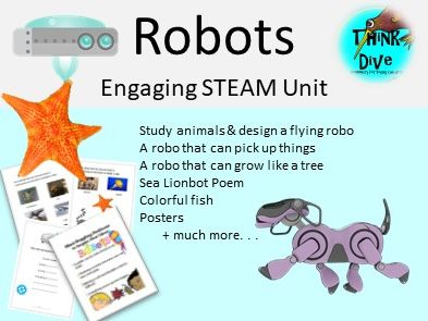 Project based learning: Robots - STEAM, Biomimicry, KS1, NGSS