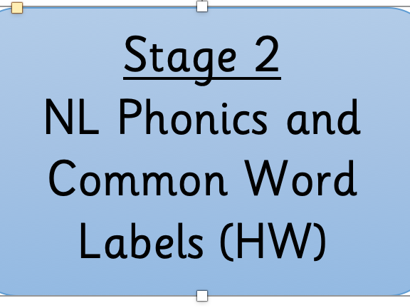 NL Active Literacy Stage 2 Consolidation Labels (8 to a page)