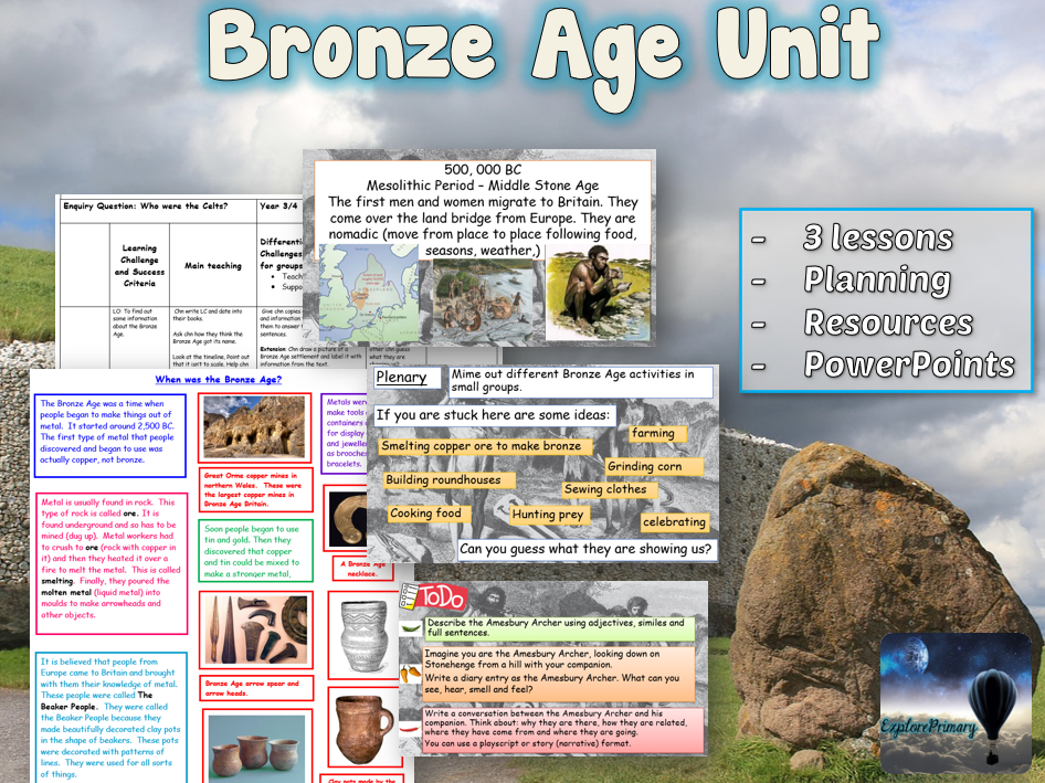 KS2 Bronze Age Unit - 3 lessons