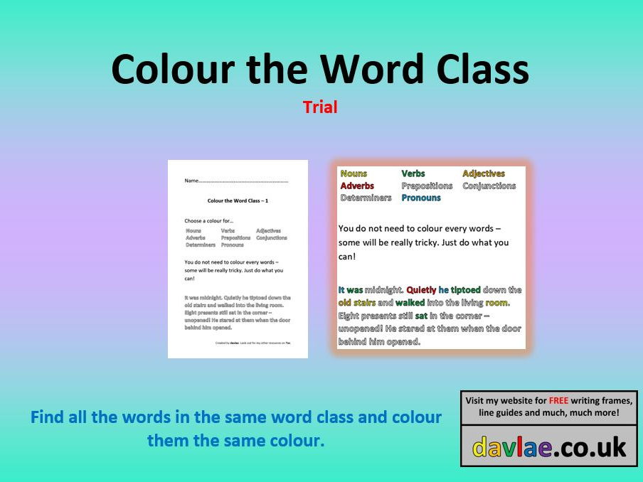 Arcs And Chords Worksheet Answers Pdf Colour The Word Class Trial Version By Davlae  Teaching Resources  Worksheets For Ordinal Numbers Excel with Worksheets Fun Colour The Word Class Trial Version By Davlae  Teaching Resources  Tes Rainforest Animals Worksheets Excel