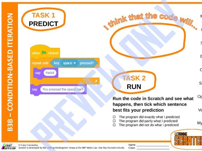 Learning Scratch using PRIMM – Condition-based iteration