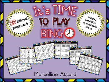 TIME ACTIVITIES: TIME BINGO (TIME TO THE HOUR AND HALF HOUR)+TIME GAME (MATCHING)