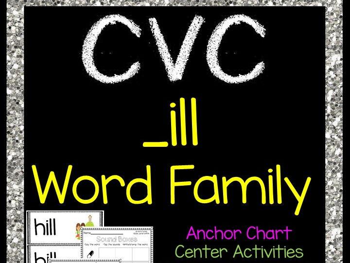 CVC ill Word Family Packet - Short i