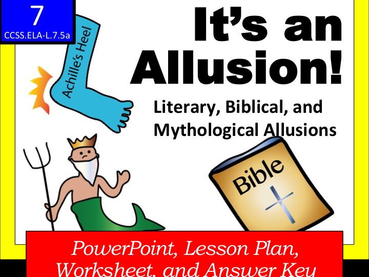 Its An Allusion Literary Biblical And Mythological Allusions By