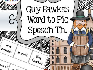 Guy Fakes Word to Picture Matching Activity, Bonfire Night
