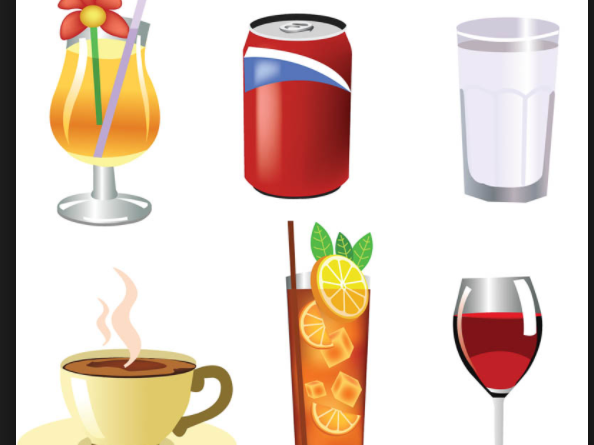 Worksheet with reading exercises about drinks in Mandarin