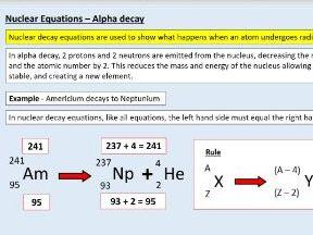 AQA GCSE Physics (4.4.2.2) Atomic structure - Nuclear equations