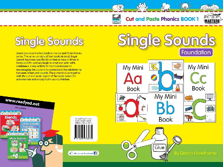 Cut and Paste Phonics 1 - Single Sounds