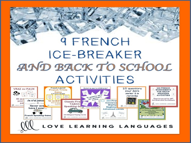 French Ice-Breaker Bundle for Back to School