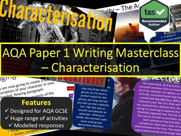 Creative Writing Masterclass - Characterisation