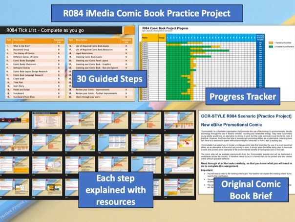 OCR iMedia L1/2 R084: Storytelling with a Comic Strip Practice Walkthrough Project