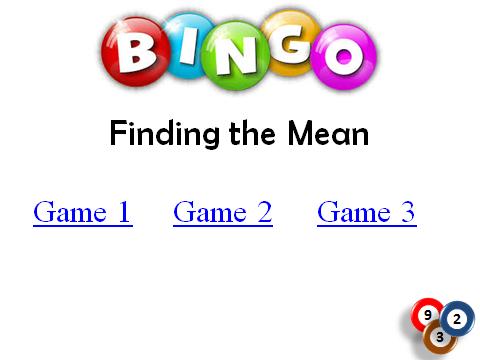 BINGO: Finding the Mean