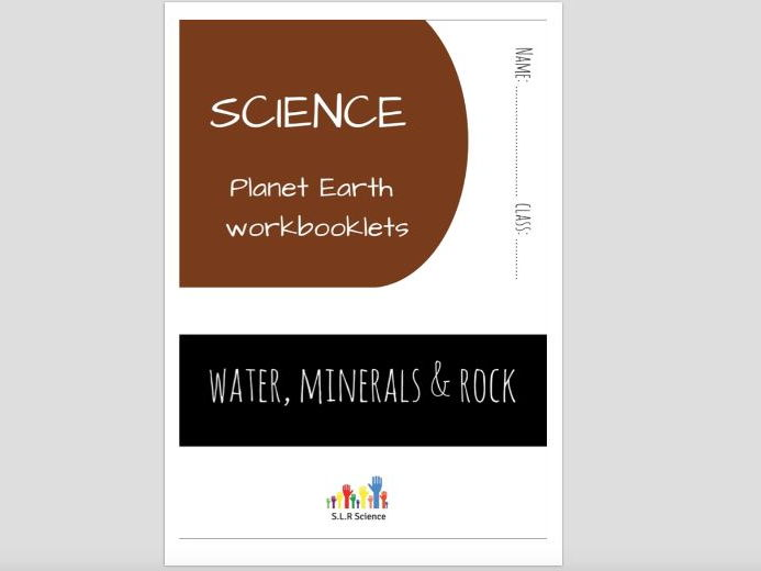 SPECIAL EDUCATION (SCIENCE) - WATER, MINERALS, ROCKS, FOSSILS, EROSION, FLOODS science workbooklet