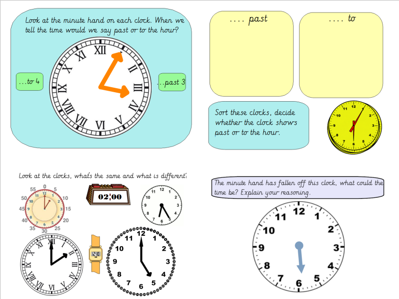Year 3 Telling the Time to the Nearest Minute (Analogue-Digital time ...