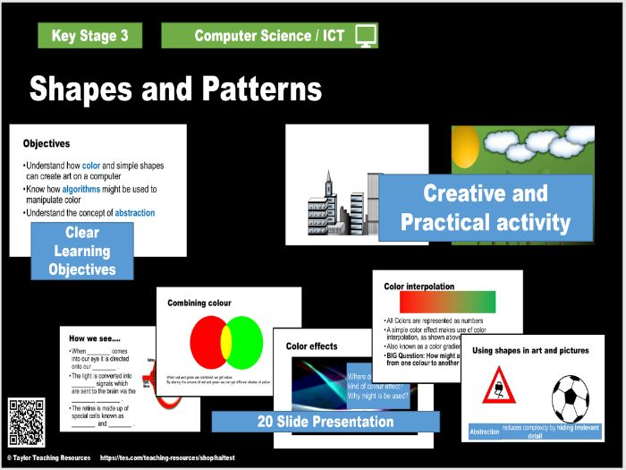 Computer Art 2 - Shapes and Patterns  - KS3 - Computer Science  - Full Lesson