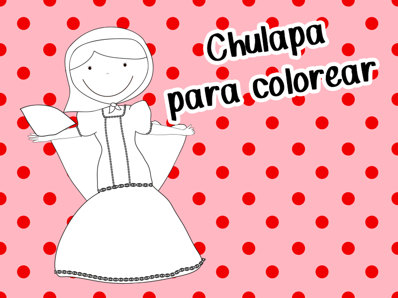 Chulapa para colorear - Chulapa for coloring - San Isidro - Fiesta de Madrid