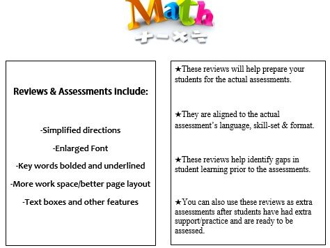 Grade 6, Math Module 6 REVIEW & ASSESSMENT w/Ans keys (printables & Smart Board)