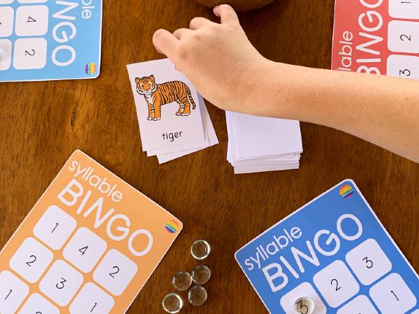 Syllable BINGO Game