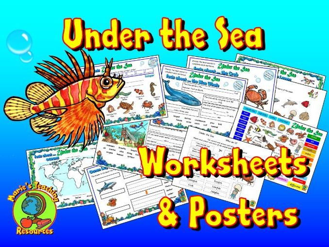 Under The Sea - Worksheets & Posters