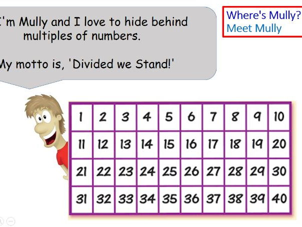 Division Game CLIC Maths Where's Mully? Progress drive and activities
