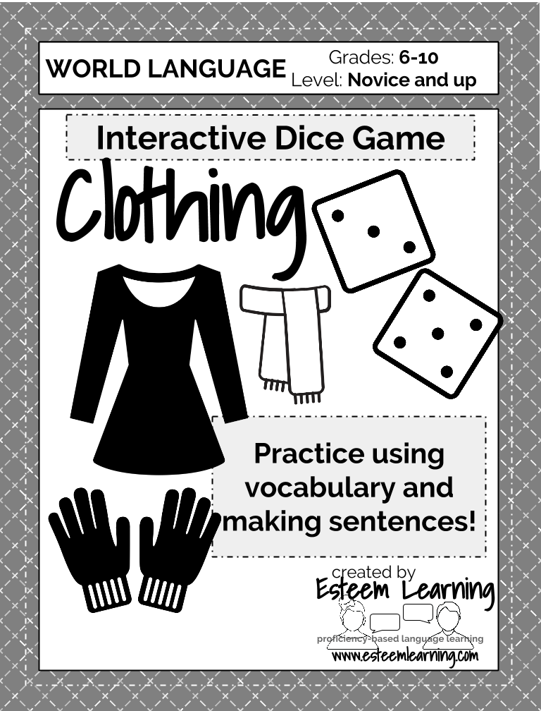 Clothing Dice Game (any language!)