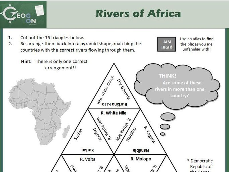 Rivers of Africa Triangle Puzzle