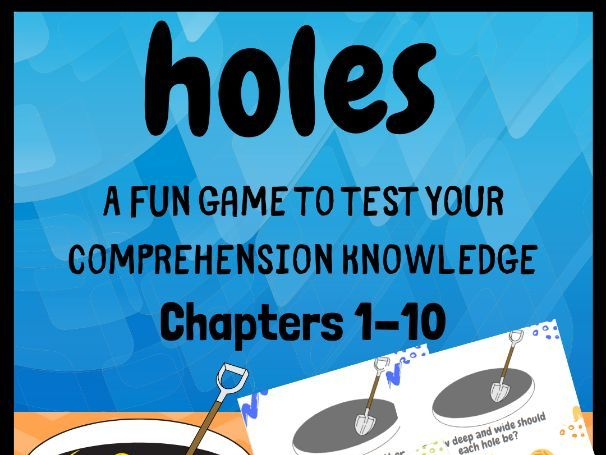 Fun Holes Reading Comprehension Game     Year 6