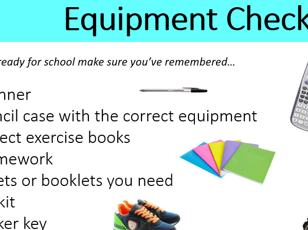 Equipment Checklist for all students