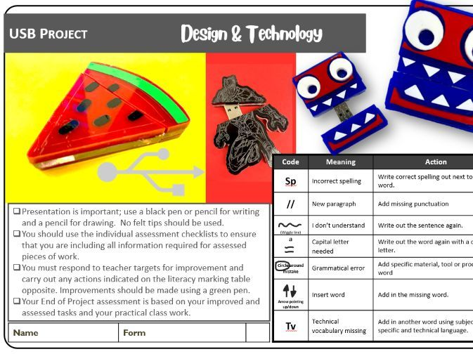 USB project booklet