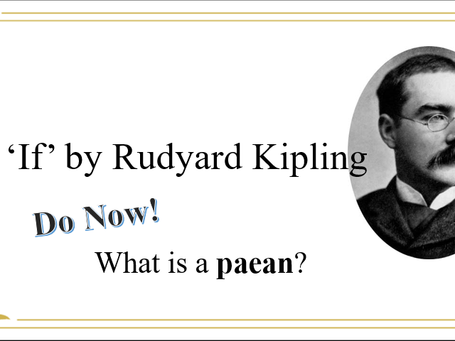 Poetry Analysis - 'If' by Rudyard Kipling