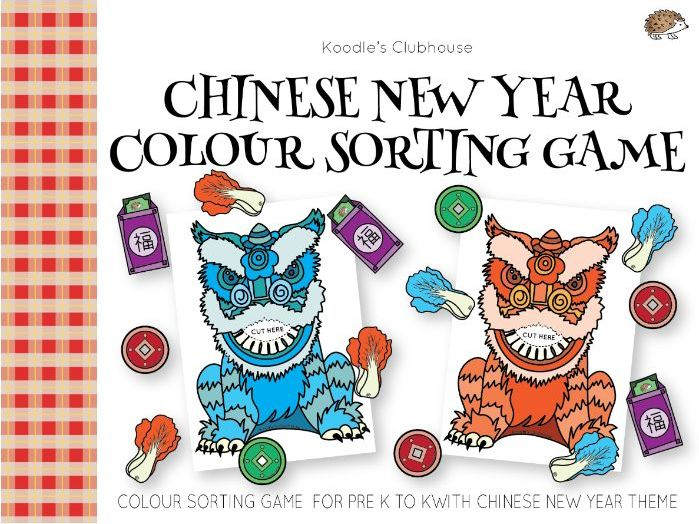 Chinese New Year Colour sorting Game