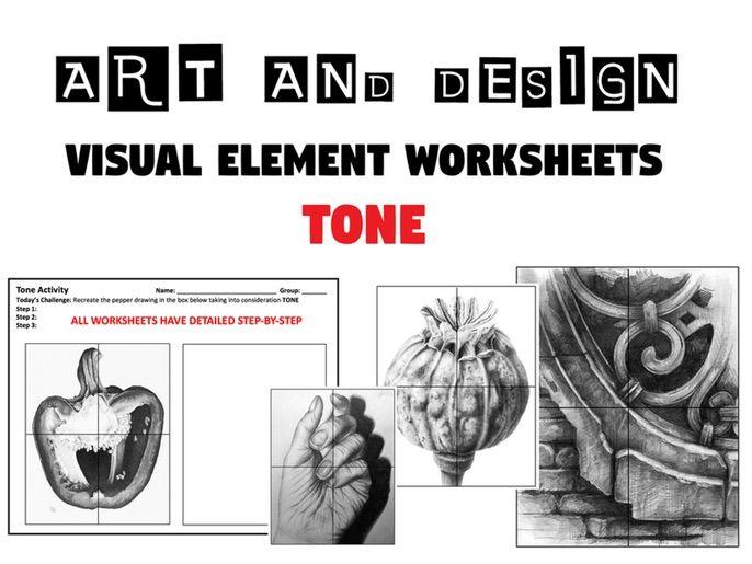 TONE WORKSHEETS  / Cover Lessons / Homework Tasks  - Visual / Formal Elements - Art and Design