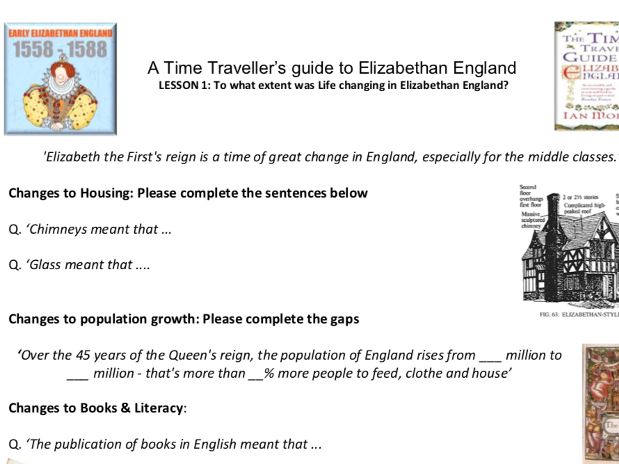 BBC Class Clips - Time Traveller's Guide to Elizabethan England.