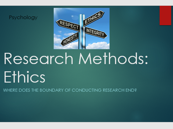 Psychology Research Methods: Ethics