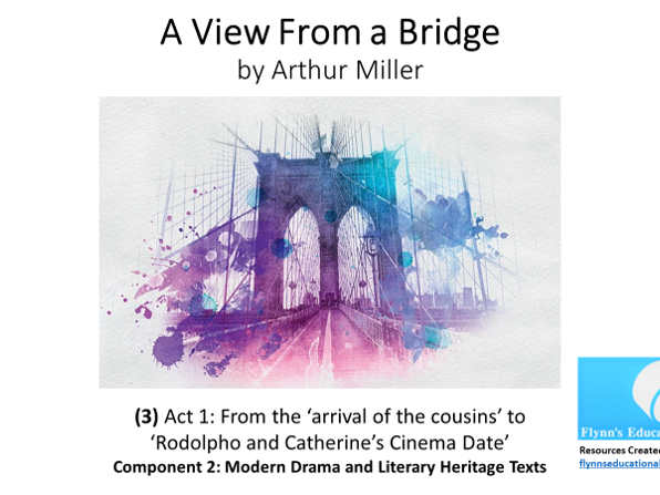 GCSE Literature: (3) 'A View from a Bridge' – Act 1 (3 of 7) 'Arriving Cousins'