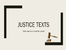 Justice Study - Literary representation