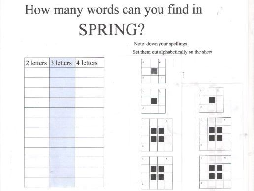 Spring Sunshine - Crosswords and Word Searches