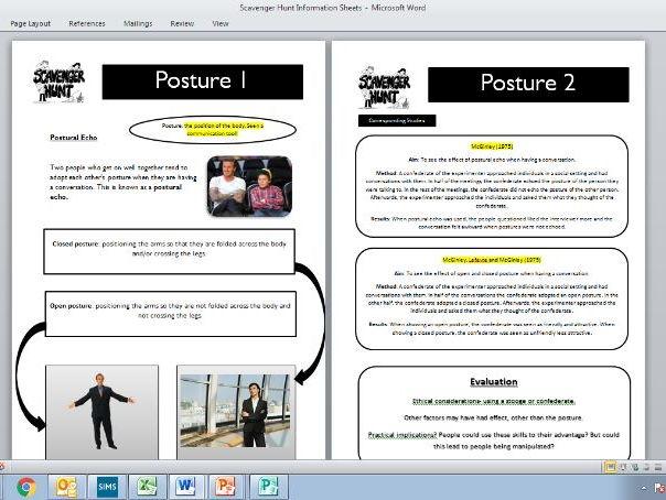 How does body language work? (GCSE, AQA)