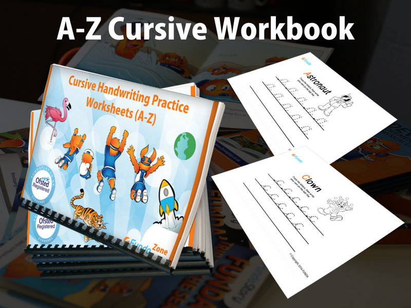 FUNDA Cursive Handwriting A-Z Practice Sheets (eDownload)