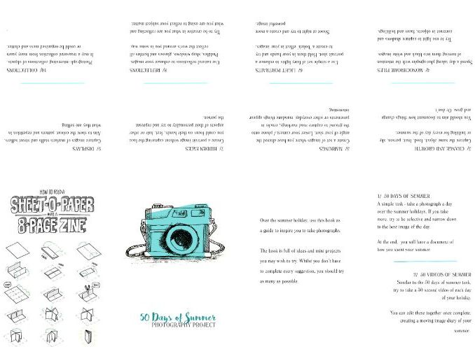 Photography Summer Booklet