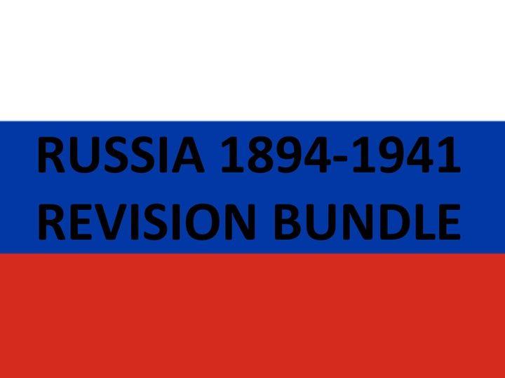 RUSSIA 1894-1941 REVISION BUNDLE