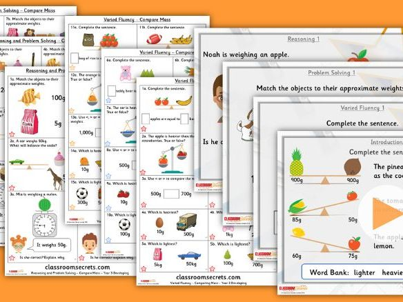 Year 3 Compare Mass Summer Block 4 Step 3 Lesson Pack