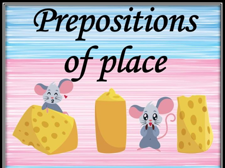 Prepositions of place. Dominoes.