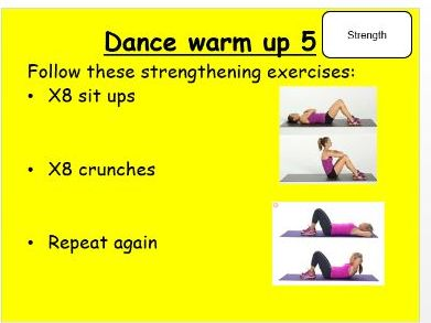 Independent Dance/Physical Activity Warm Up Cards/Stations