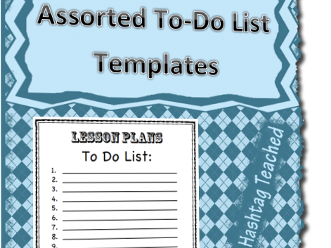 To Do List Template (Variety Pack)